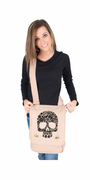 Black Floral Skull Field Bag