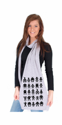 Black Robot Attack American Apparel Scarf