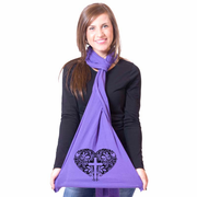 Floral Crossheart American Apparel Scarf