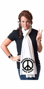 Make Love Not War  American Apparel Scarf