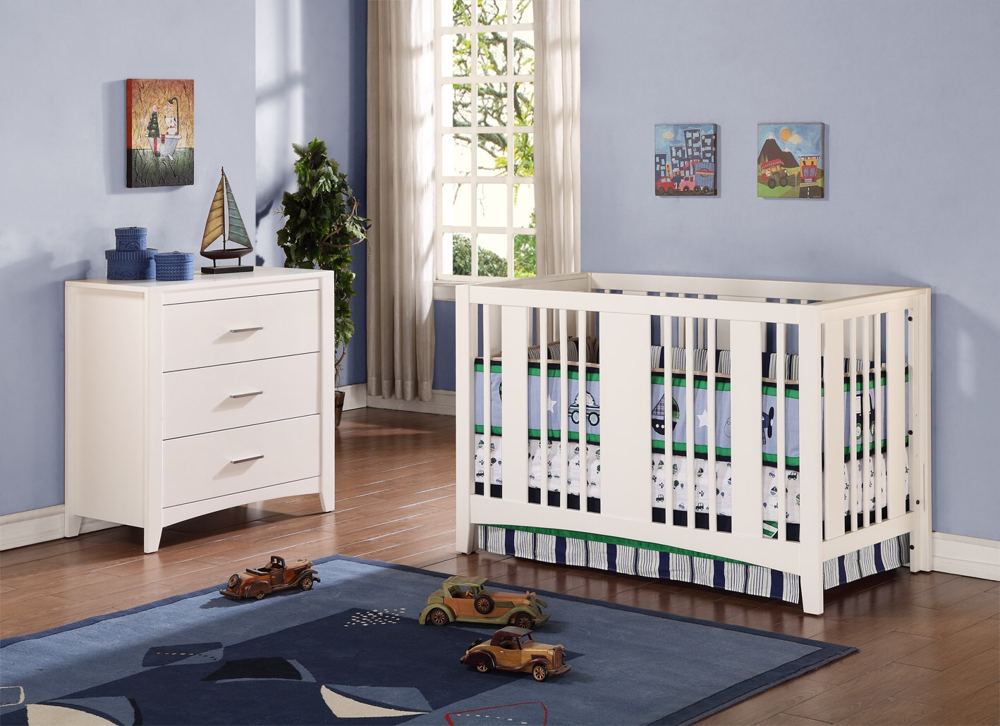 Baby cribs york region - Elle Modern Crib And Matching Change Table White Only