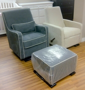 Gliders grey or cream with ottoman