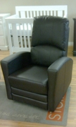 Leather recliner / glider / rocking chair - off white or espresso