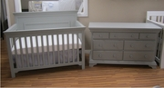 Parker crib and dresser grey/gray