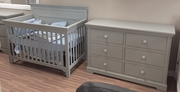Parker crib and dresser grey or white