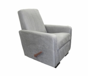 Recliner / glider faux suede - grey or cream
