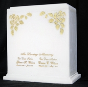 Gold Leaf Double Urn $595