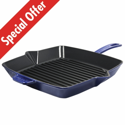 "American Square Grill, 10"" x 10"", Dark Blue"