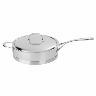 Demeyere Atlantis 3-qt Stainless Steel Saute Pan with Helper Handle
