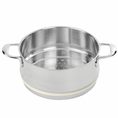 Demeyere Atlantis 3.2-qt Stainless Steel Steamer Insert (Fits 5.3-qt Stock Pot, 3.2-qt Dutch Oven & 3.2-qt Saucepan)