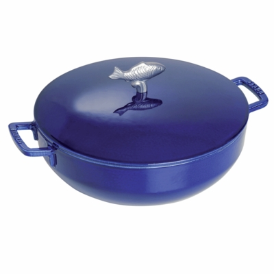 Satub Cast Iron 5-qt Bouillabaisse Pot - Dark Blue
