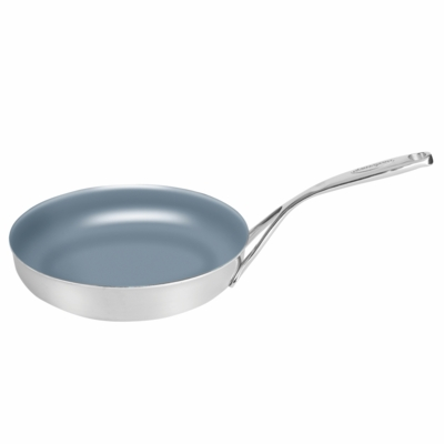 "Demeyere ControlInduc 7.9"" Stainless Steel Thermolon Nonstick Skillet"