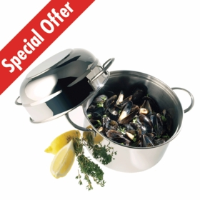 Demeyere MUSSEL POT WITH HIGH DOMED LID 3.2qt