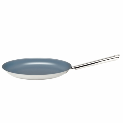 "Demeyere Resto Ecoglide 9.4"" Stainless Steel Thermolon Nonstick Crepe Pan/Griddle"