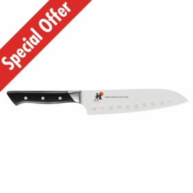 "MIYABI 600 S 7"" Santoku Knife with Hollow Edge"