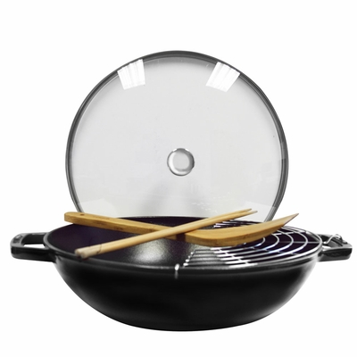 Staub Cast Iron 4.5-qt Perfect Pan - Matte Black