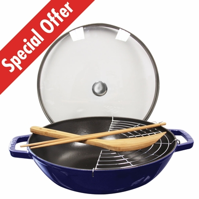 "Perfect Pan 12"", 4.5QT, Dark Blue"