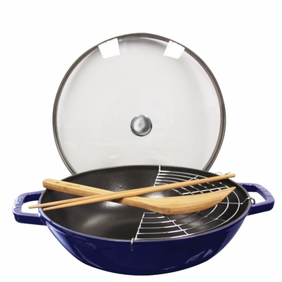 Staub Cast Iron 4.5-qt Perfect Pan - Dark Blue