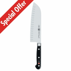 "PROFESSIONAL ""S"" 7"" Santoku Knife Hollow Edge"
