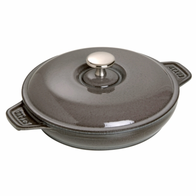 "Round Plate with lid, 7 7/8"", 0.75QT, Graphite Grey"