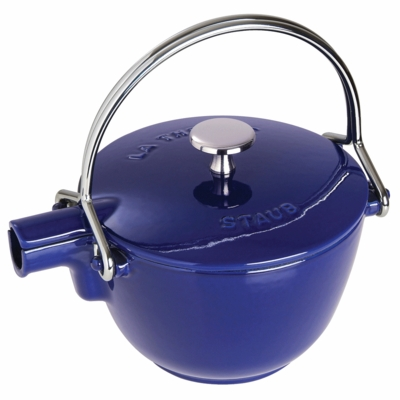 Round Teapot - Kettle, 1QT, Dark Blue