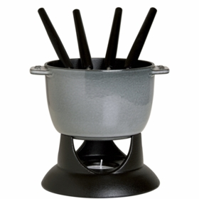 Small Fondue Set, 0.75QT, Graphite Grey