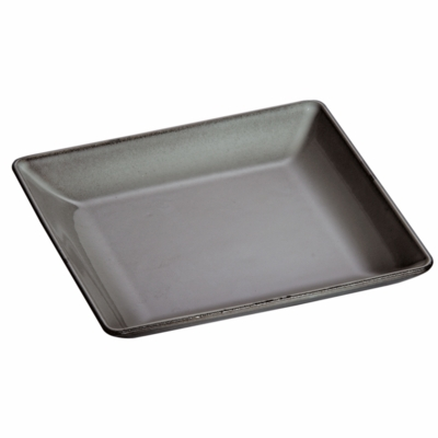 "Satub Cast Iron 9 3/8"" Square Dinner Plate - Graphite Grey"