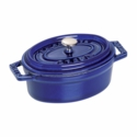 Staub Cast Iron 0.25-qt Mini Oval Cocotte - Visual Imperfections - Dark Blue