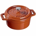 Staub Cast Iron 0.25-qt Mini Round Cocotte - Burnt Orange