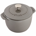 Staub Cast Iron 1.5-qt Petite French Oven - Graphite Grey