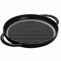 "Staub Cast Iron 10"" Pure Grill - Black Matte"