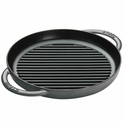 "Staub Cast Iron 10"" Pure Grill - Graphite Grey"