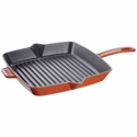 "Staub Cast Iron 10"" Square Grill Pan - Burnt Orange"