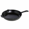 "Staub Cast Iron 12"" Fry Pan - Matte Black"