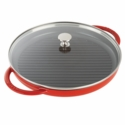 "Staub Cast Iron 12"" Round Steam Grill - Cherry"