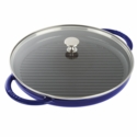 "Staub Cast Iron 12"" Round Steam Grill - Dark Blue"