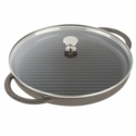 "Staub Cast Iron 12"" Round Steam Grill - Graphite Grey"