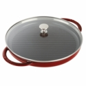 "Staub Cast Iron 12"" Round Steam Grill - Grenadine"