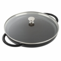 "Staub Cast Iron 12"" Round Steam Grill - Matte Black"
