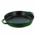 "Staub Cast Iron 13"" Double Handle Fry Pan - Basil"