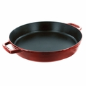 "Staub Cast Iron 13"" Double Handle Fry Pan - Cherry"