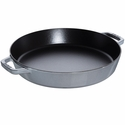 "Staub Cast Iron 13"" Double Handle Fry Pan - Graphite Grey"