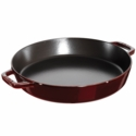 "Staub Cast Iron 13"" Double Handle Fry Pan - Grenadine"