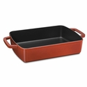 "Staub Cast Iron 15"" x 10"" Roasting Pan - Brick Red"