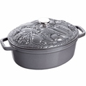 Staub Cast Iron 4.25-qt Vegetable Cocotte - Graphite Grey