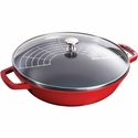 Staub Cast Iron 4.5-qt Perfect Pan - Visual Imperfections - Cherry