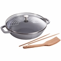 Staub Cast Iron 4.5-qt Perfect Pan - Graphite Grey