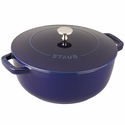 Staub Cast Iron 3.75-qt Essential French Oven - Dark Blue