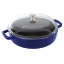 Staub Cast Iron 4-qt Universal Pan - Dark Blue