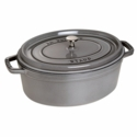 Staub Cast Iron 5.75-qt Oval Cocotte - Visual Imperfections - Graphite Grey